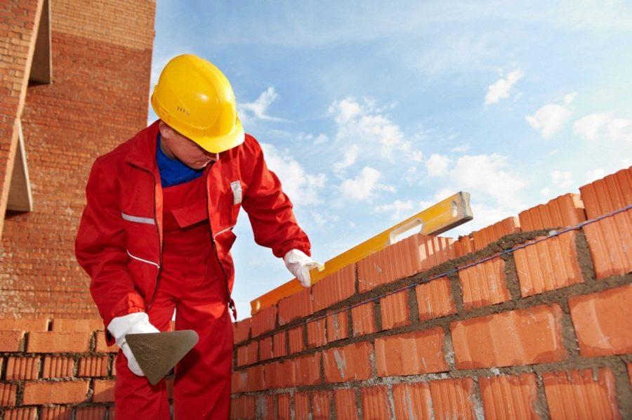 Работа по строительству зданий